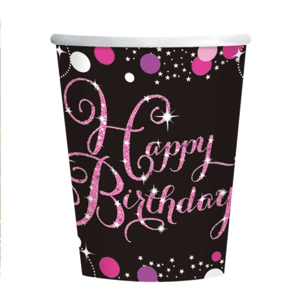 Pink Celebration Paper Cups